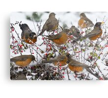 Winter Feast Metal Print
