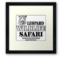 Leopard Wildlife Safari Framed Print