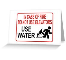 Funny Fire Warning Greeting Card