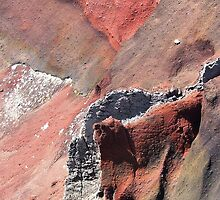 Oh so red! Crater in Tongariro, New Zealand by Miss Mischievous