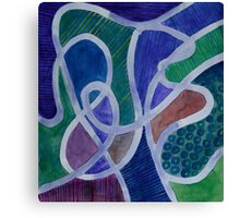 Curved Paths Canvas Print