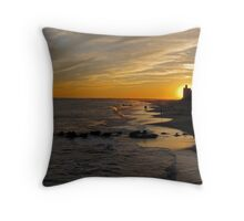 Sunset over Coney Island Throw Pillow