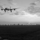Lancaster sunset B&W version by Gary Eason