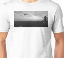 Lancaster sunset B&W version Unisex T-Shirt