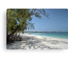 Montagu Beach in Eastern Nassau, The Bahamas Canvas Print