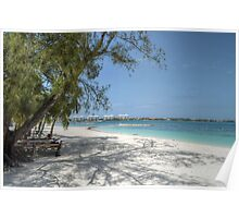 Montagu Beach in Eastern Nassau, The Bahamas Poster