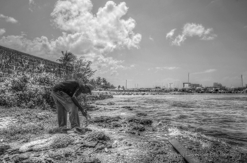 Fishing at Fort Montagu in Nassau, The Bahamas by Jeremy Lavender Photography