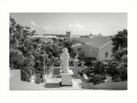 Christopher Columbus watching over Downtown Nassau - The Bahamas by 242Digital