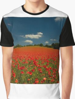 Summer Poppy Field 1 Graphic T-Shirt