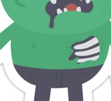 Creepy Zombie Character Sticker