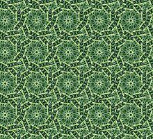 Kaleidoscopic green leaf pattern by matteogamba