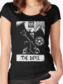 The Devil  - Tarot Cards - Major Arcana Women's Fitted Scoop T-Shirt