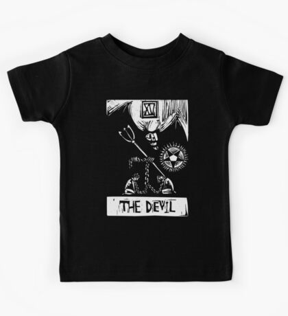 The Devil  - Tarot Cards - Major Arcana Kids Tee