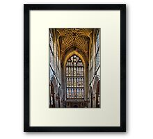 Holly window Framed Print