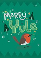 Merry Yule Robin Card by Claire Stamper