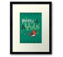 Merry Yule Robin Card Framed Print