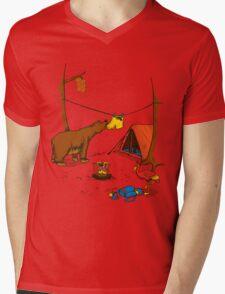 Bear and Bird Mens V-Neck T-Shirt