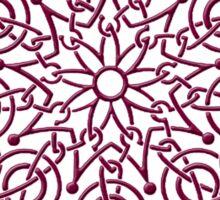Celtic Knot n3 Garnet Sticker