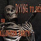 Halloween invitation by Celeste Mookherjee