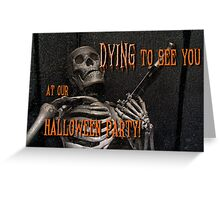 Halloween invitation Greeting Card