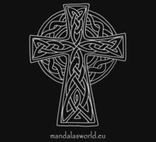 Celtic Cross n5 Lightgrey by Mandala's World