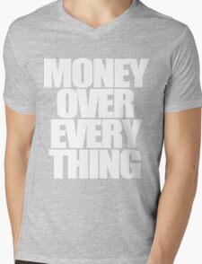 Money Over Everything Mens V-Neck T-Shirt