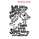 Soft Kitty HEART <3 - iPhone Case by kinxx