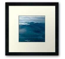 Indigo Mountains Framed Print
