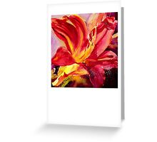 Red Day Lily Greeting Card