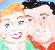 Rock Painting, I Love Lucy, Lucy And Desi Sticker