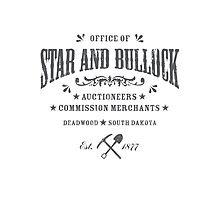 Office of Star and Bullock, Deadwood Photographic Print