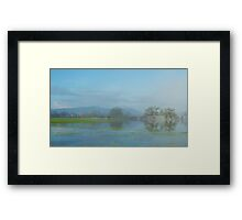 Floods on the River Severn 2 Framed Print