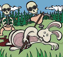 Teddy Bear And Bunny - Baby Doll Robot Killers by Brett Gilbert