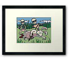 Teddy Bear And Bunny - Baby Doll Robot Killers Framed Print