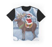 Merry Christmas Cat and Moose  Graphic T-Shirt