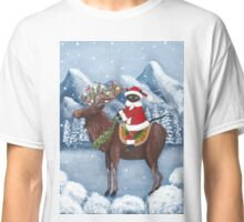 Merry Christmas Cat and Moose  Classic T-Shirt