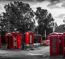 The Phonebox Graveyard by Ian Hufton