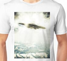 UFO Over Mountains Unisex T-Shirt