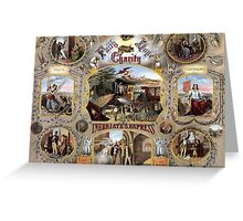 Inebriate's Express -- Vintage Temperance Poster Greeting Card
