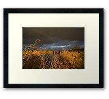 Stormy Skies at Eckington Bridge 2 Framed Print