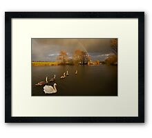 In Line Astern Framed Print