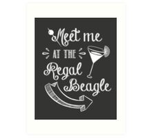 Three's Company TV Show - Meet Me at the Regal Beagle Art Print