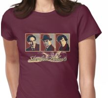 Sherlock Trilogy x3 - Rustic Womens Fitted T-Shirt