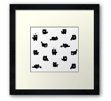 kitty print Framed Print