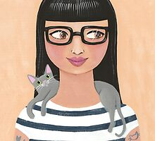 Modern Cat Lady by Ryan Conners