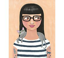 Modern Cat Lady Photographic Print