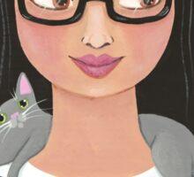 Modern Cat Lady Sticker