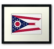 Ohio, Flag, Buckeye State, States of the Union, America, USA Framed Print