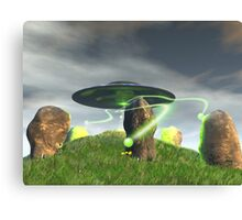 UFO and Ancient Stone Circle Canvas Print