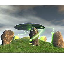 UFO and Ancient Stone Circle Photographic Print